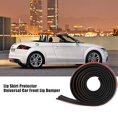 New 2.5m Car Front Bumper Spoiler Lip Splitter Valance Chin Protector Kits