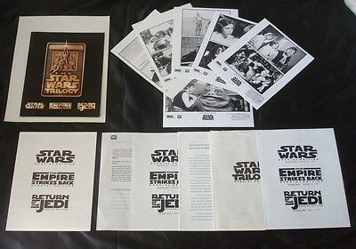 Orig 1997 **STAR WARS Trilogy: Special Edition** PRESS KIT w/Photos FORD FISHER