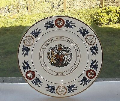 Coalport English Fine China Plate Silver Jubilee Queen Elizabeth 11  1977 Ltd Ed