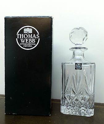 Boxed Thomas Web Crystal Wine Decanter Berkeley Square Spirit Cut Lead Whiskey