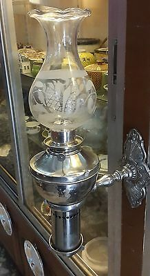 Rare Old Vintage WALL MOUNT WINDUP ROBERT HITCHCOCK LAMP MADE IN USA WORKING