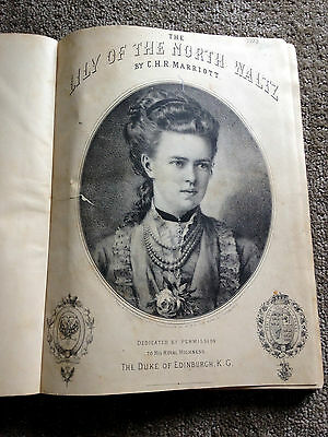 """""""Lily Of The North Waltz"""" vintage antique piano music book 1882 C.H.R. Marriott"""