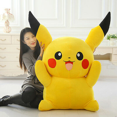 17''/43CM Pikachu Pokemon Plushies Giant Stuffed Toy Doll Pillow Kids Huge Gift