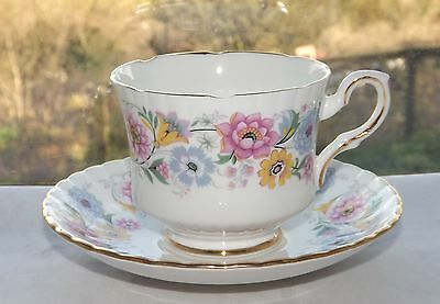 Royal Stafford Bone China England  Cup and Saucer Florentina Pattern