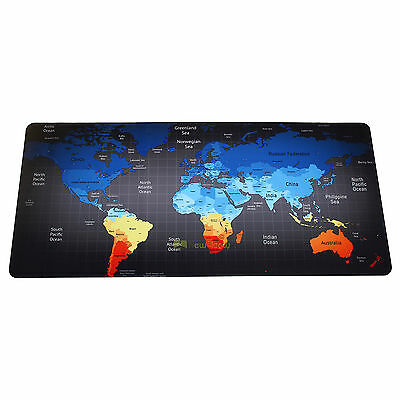 Blue Large Size World Map Speed Game Mouse Pad Laptop Gaming Mousepad Desk Mat