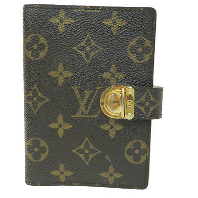 Auth LOUIS VUITTON Agenda PM Day Planner Monogram Leather Brown R20103 05B700