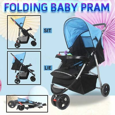 New 3 in1 Baby Travel Pram Stroller Kids Toddler Ride-on Toys Jogger 3 Wheels AU