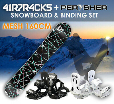 AIRTRACKS Snowboard 160cm & PERYSHER Bindings Set - PALETTE SNOWBOARD