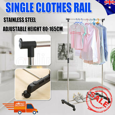 2017 Portable Stainless Steel Single Organizer Hanger Rack Garment Clothes Dryer