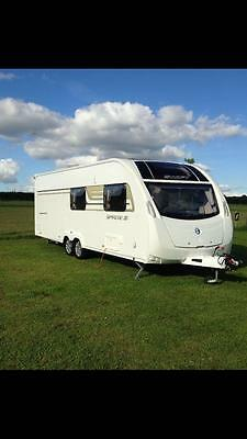 Sprite Quattro FB Caravan 2014 6 berth twin axle fixed bed one owner from new