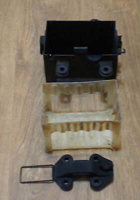 1984 Honda 200ES battery box compartment with clamp holder