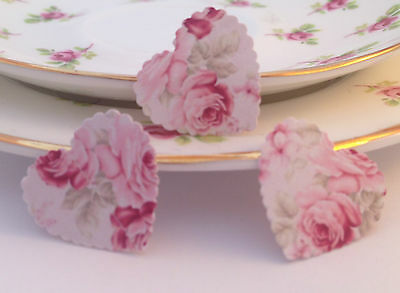 100 Vintage Style Shabby Chic Pink Rose Paper Wedding Table Confetti Decorations