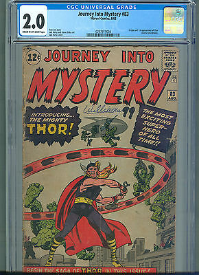 Journey into Mystery #83 (Aug 1962, Marvel) CGC 2.0 ** 1st Appearance of Thor **