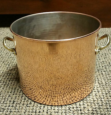 "VINTAGE ANTIQUE LARGE ""COPPER FRENCH COOKING POT"" 20cm Diameter x15cm High"