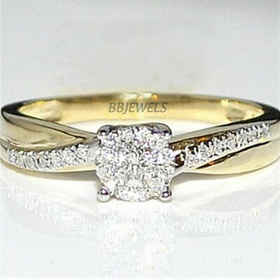0.50ct Round Cut Diamond Solitaire Engagement Ring 14k Yellow Gold