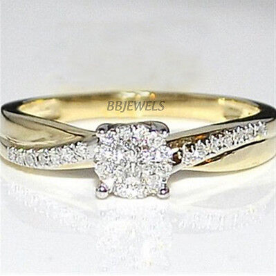 0.50ct Round Cut Diamond Solitaire Engagement Ring 14k Yellow Gold Over