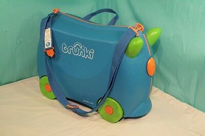 Trunki Blue Terrance & Towing Strap / Lock - Never Used