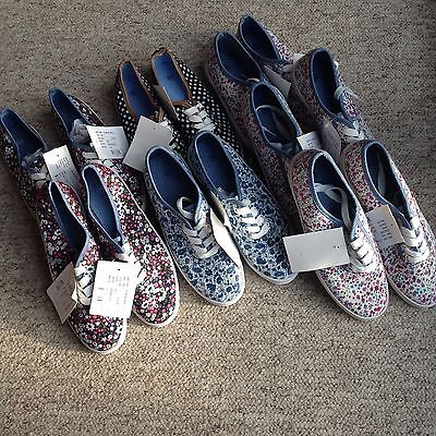 JOB LOT Unbranded Pattern Plimsoll Pumps UK5 X 7 Pairs