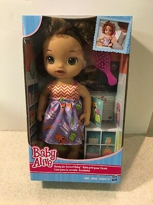 NEW Baby Alive Ready for School Brunette DOLL SET Brush  NIB HASBRO Ages 3 & Up