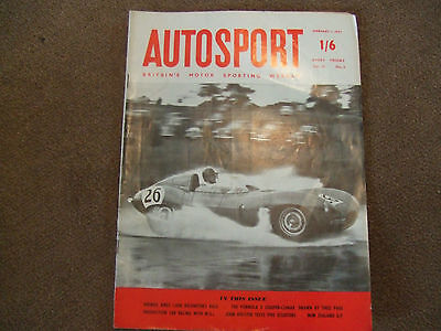 Autosport 1 February 1957 Cooper Climax Cutaway New Zealand GP Buenos Aires 1000