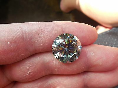 15.88 CT 16.66 mm VS1 White Gray Color Round Diamond Shape Loose Moissanite