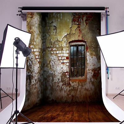 Old Brick House Indoor Photography Backgrounds 5x7ft Vinyl Photo Backdrops
