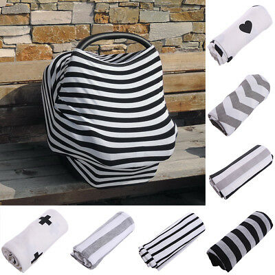 Multi-Use Infant Newborn Stretchy Nursing Cover Baby Car Seat Canopy Cart Cover