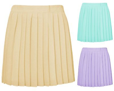 Ladies Girls Pleated Woven Chiffon Slim Casual Mini Skirt Womens Playful Hot