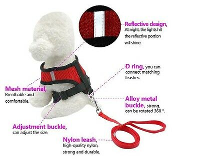 Pet Dog Harness Collar Soft Vest Strap Walk Safety Control Cat Mesh Large Puppy