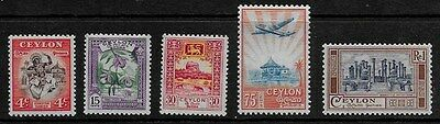 Ceylon 1950 Pictorial Issue - SS - MH