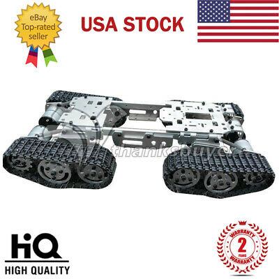Toy Tank Car Truck Robot Chassis W/ Motors Caterpillar Chassis Intelligent US