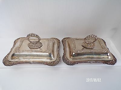 Victorian Pair of Silver Plate Entree dish's, Very decorative, Mappin Brothers.