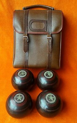 Vintage Set of 4 x Henselite 8th African Model Standard 4 7/8 Lawn Bowling Bowls