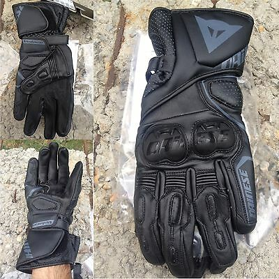 Dainese Veloce  Black Leather Long Cuff gloves Motorbike Motorcycle was  £80