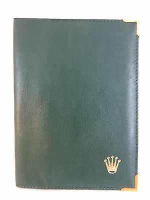 Rolex Genuine Watch Document Green Passport Travel Wallet Organiser