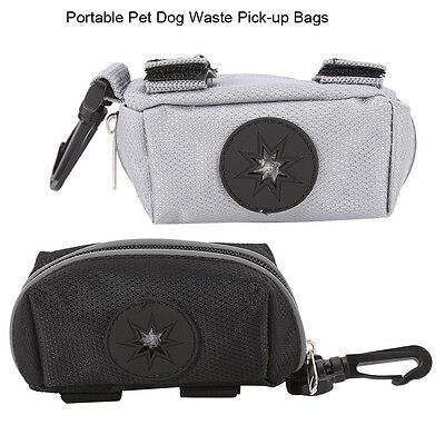 Pet Dispenser Waste Dog Poo Puppy Pick-Up Bag Poop Bag Holder Pouch Black/Gray