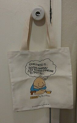 """Ziggy Tom Wilson Canvas Book Bag 12.5"""" x 13"""" Bag Tote Loneliness is..."""