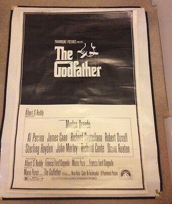 'The Godfather' Film Poster 1997 Reissue Rolled Approx 100cm X 68cm
