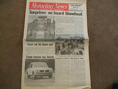 Motoring News 6 January 1972 Triumph Dolomite test F3 Review Springbock 3 Hours