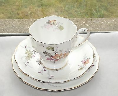 Royal Standard English Bone China Trio Cup Saucer Plate Autumn Leaves