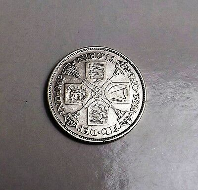 George V 1932 Florin/two-Shilling[Key Date] Very Nice Condition