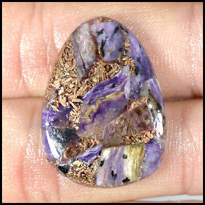 COPPER CHAROITE CABOCHON 17.94Cts SUPERB QUALITY FANCY LOOSE GEMSTONES 32-H
