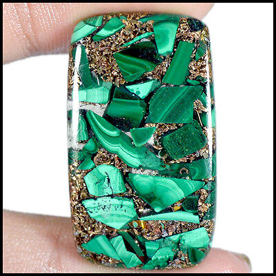 31.00Cts Natural Copper Played Malachite Baguette Cabochon Loose Gemstones 33-E