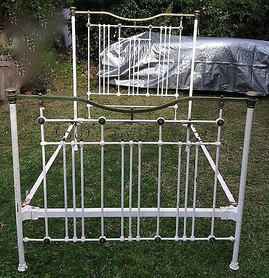 Antique Wrought Iron/Brass Double Bed