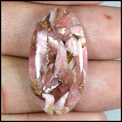 21.49Cts NATURAL RHODOCHROSITE COPPER OVAL CABOCHON LOOSE GEMSTONES 44-H