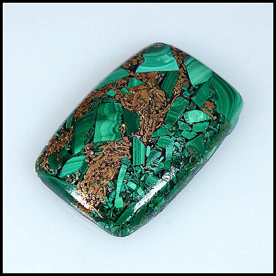 48.00Cts Copper Mix Beauty Malachite Cushion Cabochon Loose Gemstones 49-A