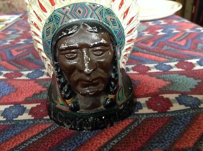 indian chief original car badge hood ornament mascot coventry tomley ltd lorry