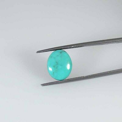 6.13 Cts NATURAL QUALITY ARIZONA  TURQUOISE OVAL CABOCHON LOOSE GEMSTONE 55-48