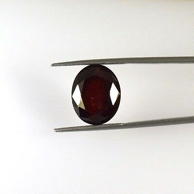 13.58 Cts NATURAL HESSONITE GARNET OVAL CUT LOOSE GEMSTONE 56-60