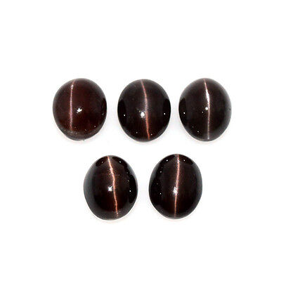 SCAPOLITE CAT'S EYE 25.63 Cts NATURAL LOT OVAL 5Pcs LOOSE GEMSTONE 62-59